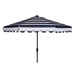 Maui Single Scallop Striped 9ft Crank Push Button Tilt Umbrella