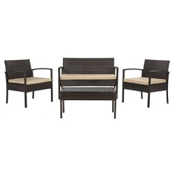 Mattia 4 Piece Rattan Living Set