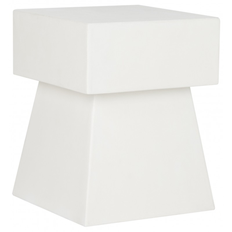 Zen Indoor/Outdoor Mushroom Modern Concrete 18.1-inch H Accent Table