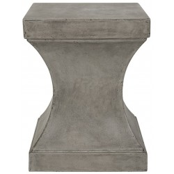 Curby Indoor/Outdoor Modern Concrete 17.7-inch H Accent Table