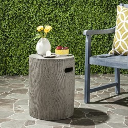 Safavieh Trunk Indoor/Outdoor Modern Concrete Round 16.5-inch H Accent Table - Dark Grey (VNN1004A)