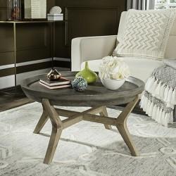 Safavieh Wynn Indoor/Outdoor Modern Concrete Round 18.1-inch H Coffee Table - Dark Grey (VNN1013A)