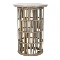 Fane Indoor/Outdoor Modern Concrete 23.23-inch H Side Table