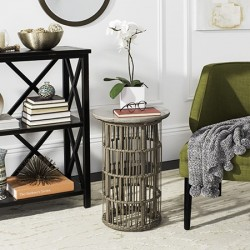 Safavieh Fane Indoor/Outdoor Modern Concrete 23.23-inch H Side Table - Dark Grey (VNN1022A)