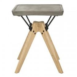 Marcio Indoor/Outdoor Modern Concrete 19.69-inch H Side Table