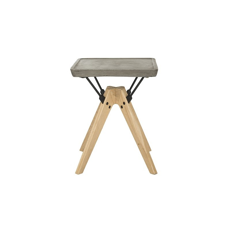 Marcio Indoor/Outdoor Modern Concrete 19.69-inch H Side Table