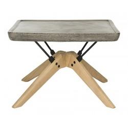 Delartin Indoor/Outdoor Modern Concrete 14.57-inch H Coffee Table