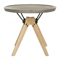 Farmond Indoor/Outdoor Modern Concrete 19.69-inch H Side Table