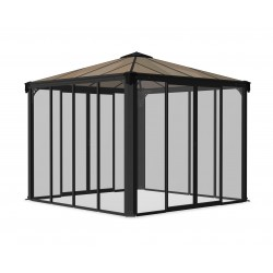 Palram 10x10 Ledro Gazebo Kit - Gray/Bronze (HG9190)