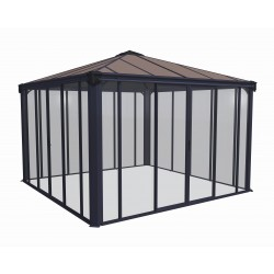 Palram 12x12 Ledro Gazebo Kit - Gray/Bronze (HG9192)
