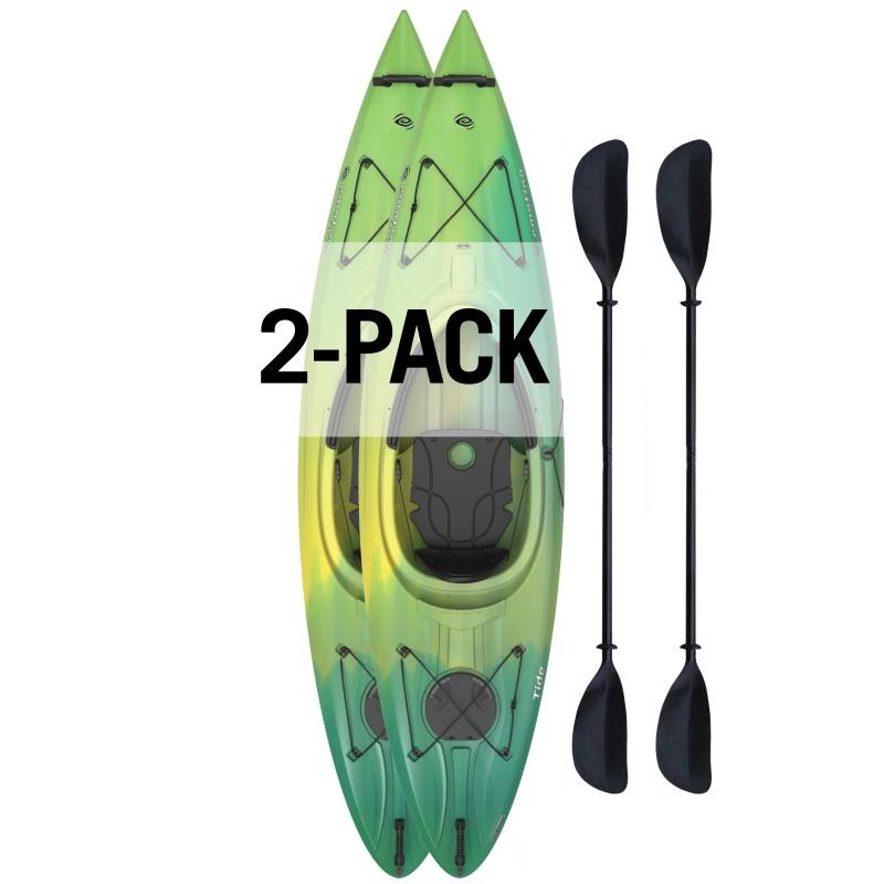 Lifetime 2 Pack Emotion Tide 10' Sit-In Kayak  - Lemongrass Fusion (90877)