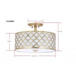 Safavieh Kora Quatrefoil 3 Light 15-inch Dia Flush Mount - Gold (FLU4000A)