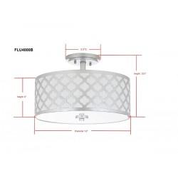 Safavieh Kora Quatrefoil 3 Light 15-inch Dia Flush Mount - Silver (FLU4000B)