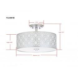 Vera Chain-Link 3 Light 15-inch Dia Silver Flush Mount