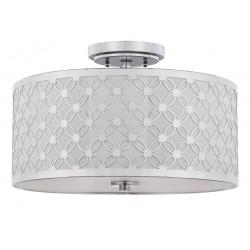 Safavieh Hutch 3 Light 16-inch Dia Flush Mount - Chrome/Off-white (FLU4002C)
