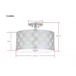 Safavieh Cecily Leaf Trellis 3 Light 15-inch Dia Flush Mount - Silver/Off-White (FLU4003B)