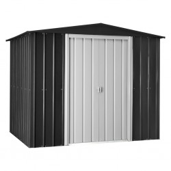 Globel 8x6 Gable Roof Metal Storage Shed - Anthracite Gray (GL8009)