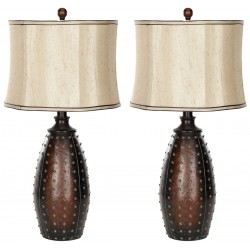 Santa 28.5-inch H Fe Faux Leather Lamp