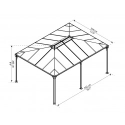 Palram Martinique 12x16 Garden Gazebo Kit (HG9171)