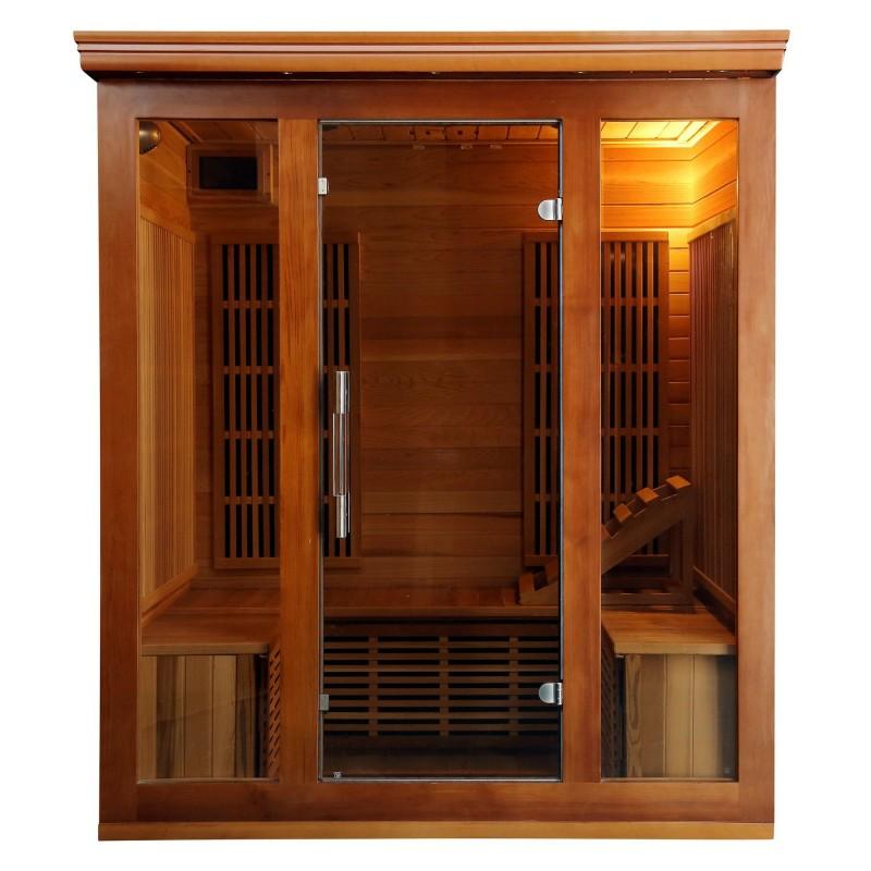Bluewave Cedar Elite 3-4 Person Premium Sauna w/ 9 Carbon Heaters (SA1315)