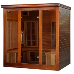Blue Wave Cedar Elite 4-5 Person Premium Sauna w/ 9 Carbon Heaters (SA1322)
