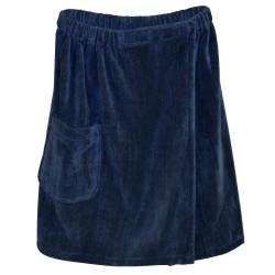 Blue Wave Men's Spa & Bath Terry Cloth Towel Wrap - Navy Blue (SA5327)