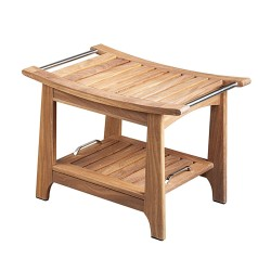 Blue Wave Teak Shower and Sauna Bench w/ Storage (SA5046)