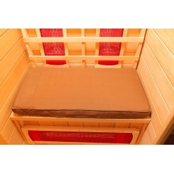 Blue Wave Radiant Sauna Seat Cushion for 1 Person Sauna - Brown (SA7001)