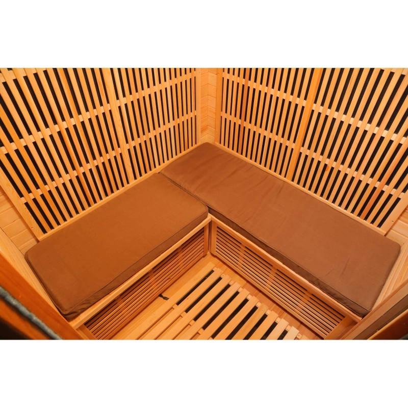 Blue Wave Radiant Sauna Seat Cushion for 3 Person Corner Sauna - Brown (SA7002)