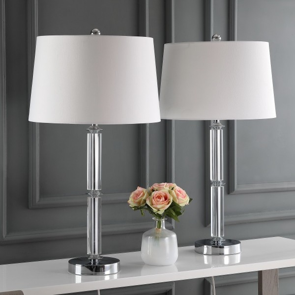 Safavieh Vendome 28 5 Inch H Crystal Table Lamp Set Of 2 Lit4049a