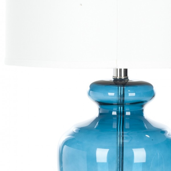 Safavieh Morocco 27 Inch H Blue Glass Table Lamp Set Of 2