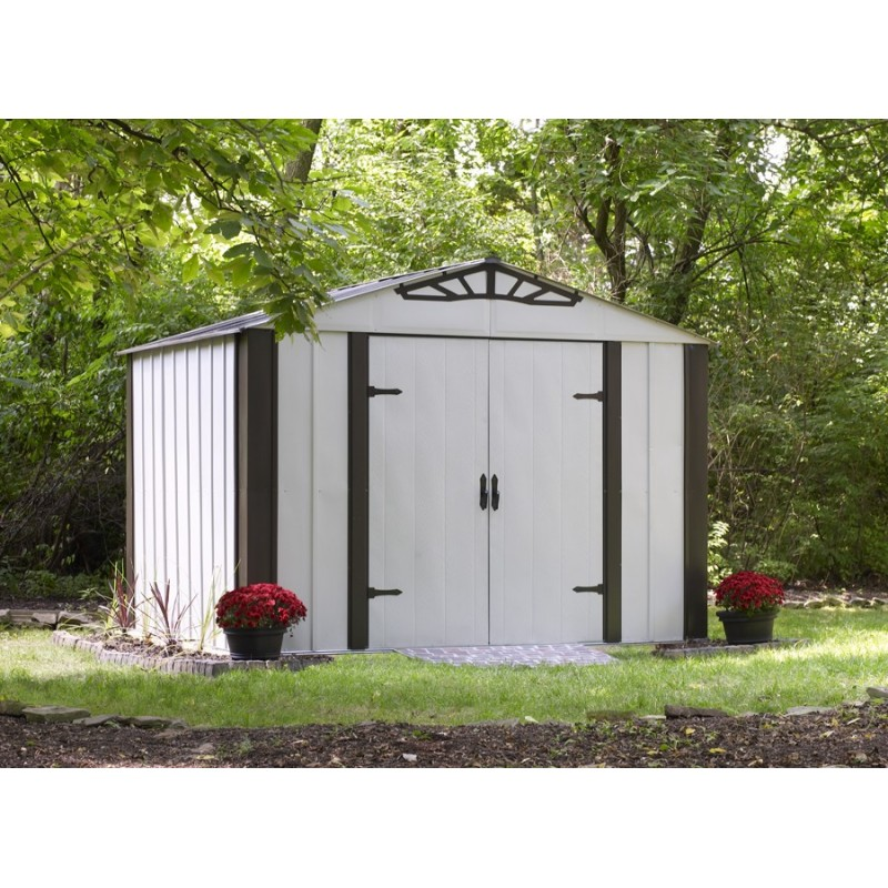 Designer Series 10' x 8' Hot Dipped Galvanized Steel Shed