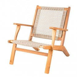 Patio Sense Vega Natural Stain Outdoor Chair (62773)