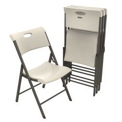 Lifetime 4-Pack Light Commercial Folding Chairs - Almond (480625)
