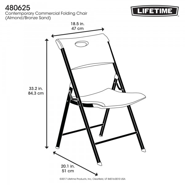 Admirable Lifetime 4 Pack Light Commercial Folding Chairs Almond 480625 Ocoug Best Dining Table And Chair Ideas Images Ocougorg