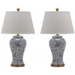 Safavieh Spring 29-inch H Blossom Table Lamp - Set of 2 - Blue/White (LIT4170B-SET2)