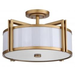 Orb 3 Light Antique Gold 17-inch Dia Semi Flush