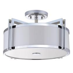 Orb 3 Light Chrome 17-inch Dia Semi Flush