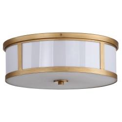 Safavieh Avery 2 Light 17-inch Dia Drum Flush Mount - Antique Gold (LIT4195A)