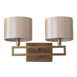 Catena 9.25-inch H Antique Gold Double Light Sconce