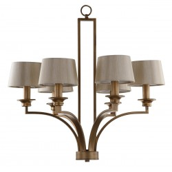 Mindy 6 Light Antique Gold 28 inch Dia Craftsman Pendant