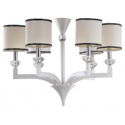 Erin 6 Light White 27.5 inch Dia Chandelier
