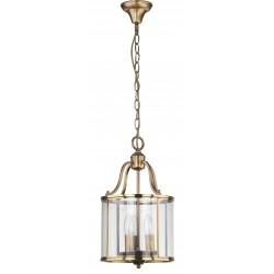 Safavieh Sutton Place 3 Light 10-inch Dia Pendant - Brass/Clear (LIT4219A)