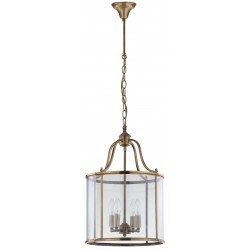Safavieh Sutton Place 4 Light 13.4-inch Dia Pendant - Brass/Clear (LIT4220A)