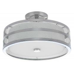 Safavieh Greta 3 Light 15.75-inch Dia Veil Semi Flush - Chrome/White (LIT4230B)