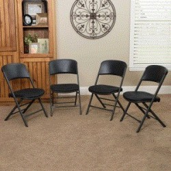 Lifetime 4-Pack Padded Folding Chairs - Gray Sand (480621)