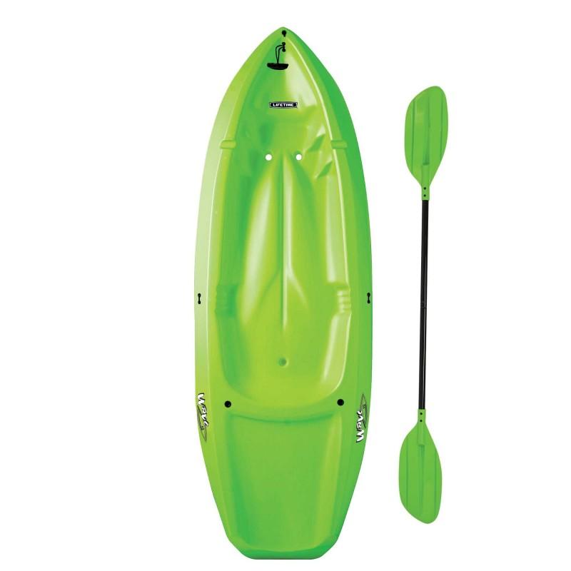 Lifetime Wave 60 Sit-On-Top Kayak w/ Paddle - Lime Green (90153)