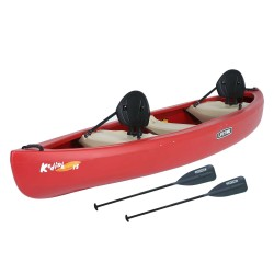 Lifetime Kodiak 130 Canoe w/ Paddle  - Red (90658)