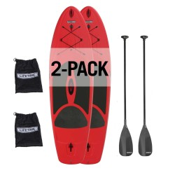 Lifetime Horizon 100 Stand-Up Paddleboard 2 Pack w/ Paddle - Fire Red (90796)