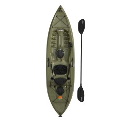 Lifetime Tamarack Angler 100 Fishing Kayak w/ Paddle  - Olive Green (90818)